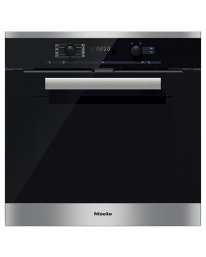 Miele Pureline H6260BP Single Built In Electric Oven, Clean Steel