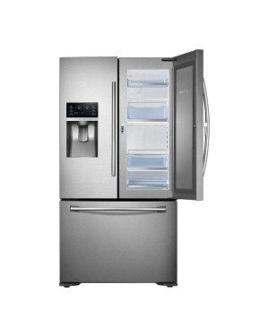 Samsung Food ShowCase RF23HTEDBSR/EU 70/30 American-Style Fridge Freezer, Real Stainless