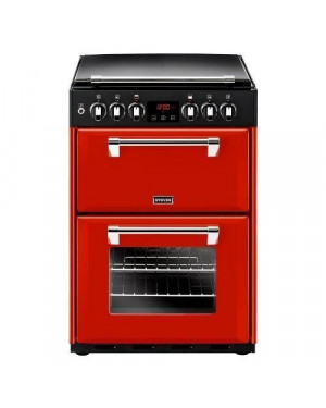 Stoves Richmond 600DF Dual Fuel Cooker with Double Oven, Jalapeno Red