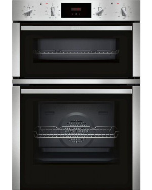 Neff U1CCC3AN0B 60cm Built-In Double Electric Oven, A/B Rating, Stainless Steel
