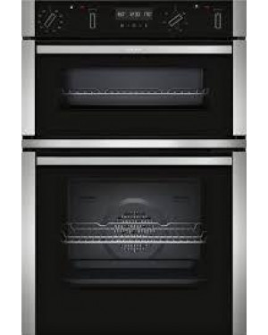 Neff U2ACM7HN0B Built-In Double Oven, Stainless Steel